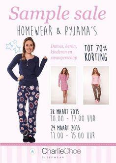 Sample Sale Charlie Choe (pyjama's en homewear) -- Nieuwkuijk -- 28/03-29/03