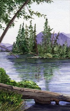Lake Wenatchee Painting by Linda Hoover - Lake Wenatchee Fine Art Prints and Posters for Sale