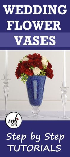 Learn step by step how to design a flower vase. Free tutorials for all wedding decorations, including bridal bouquets, corsages, boutonnieres, church decorations and wedding receptions. Church Wedding Decorations, Flower Decorations, Aisle Decorations, Wedding Church, Diy Wedding Flowers, Diy Flowers, Flower Vases, Wedding Vase Centerpieces, Florist Supplies