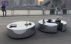 "There you go, ""EYE"" the center table that can be transformed into a bench, its versatility and unique lines, make it a ""must have"" of our collection..."
