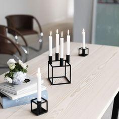 By Lassen Kubus 4 kynttilänjalka, musta Nordic Design, Scandinavian Design, Scandinavian Living, Cute Candles, Taper Candles, Candle Lanterns, Danish Design, Online Furniture, Interiores Design