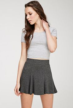 Heathered Knit Fluted Skirt | FOREVER21 - 2000081348