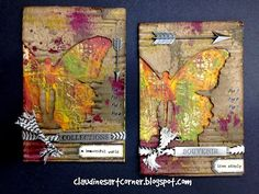 Claudine's Art Corner: Tim Holtz 12 Tags of 2014 - November using Tim Holtz, Ranger, Idea-ology, Sizzix and Stamper's Anonymous products; Mar 2015