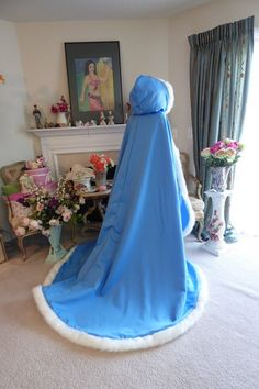 Beauty and The Beast Bridal cape Pacific Blue / by capeandcrown13