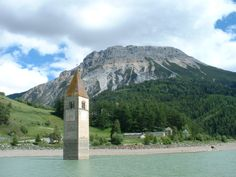 Reschen - If you see the church in the lake it's time to breathe for the last two peaks.