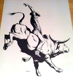 Masculine Tattoo Designs for Men and Guys Cowboy Tattoos, Western Tattoos, Bull Tattoos, Cowboy Theme, Cowboy Art, Cow Tattoo, Bucking Bulls, Bull Riders, Ink Pen Drawings
