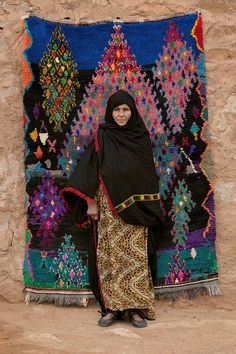 Carpet created by women of Morocco's Aït Khebbach nomadic tribe