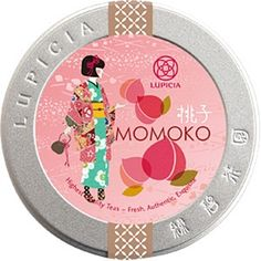 momoko- green tea base with peach and vanilla accents! Tea Packaging, Brand Packaging, Design Packaging, Product Packaging, Packging Design, Japanese Design, Japanese Style, Gift Box Design, Tea Tins