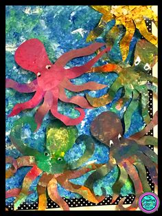 Octopus Art Project! Free template included!