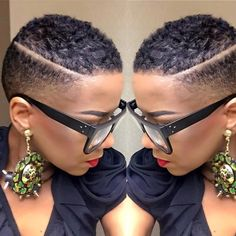 New Hair Cuts Natural Short Ideas Short Natural Styles, Short Natural Haircuts, Natural Hair Cuts, Natural Black Hair, Short Styles, African Hairstyles, Girl Hairstyles, Big Chop Hairstyles, Black Ladies Hairstyles