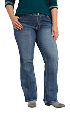 77d81042d61 maurices Womens Denimflex Plus Size Bootcut Jeans In Medium Wash 16 Medium  Sandblast     Read more reviews of the product by visiting the link on the  image.