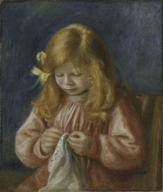 Jean Renoir sewing Canvas Art - Pierre-Auguste Renoir x Jean Renoir, Pierre Auguste Renoir, Monet, August Renoir, Art Pierre, Renoir Paintings, Oil Painting Reproductions, Art Institute Of Chicago, French Artists