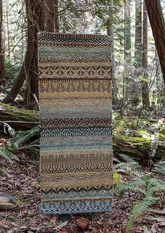 "True North Textiles - Design Studio — Multi Weave Bronze 30"" x 72"""