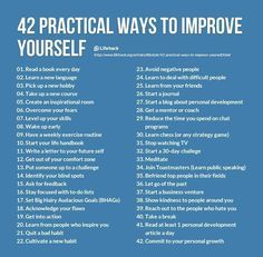 42 Practical Ways To Improve Yourself happy life happiness positive emotions lifestyle mental health confidence self improvement self help emotional health
