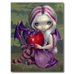 """Valentine Dragon"" Postcard"