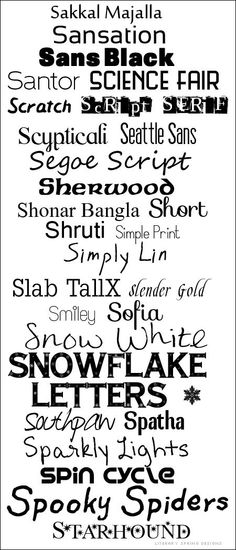 Fonts with S  ~~  {28 Free fonts - no links, but all can be found with a google search - most of these are commercial free}