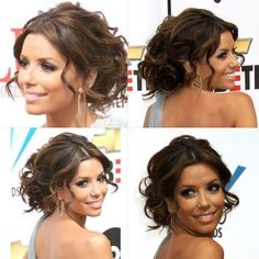 Eva Longoria hair updo.  LOVE IT!!!