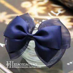 小小瑶纯手工蝴蝶结发饰 发夹 边夹 发圈:hixiaoxiaoyao.taobao.com Fabric Ribbon, Ribbon Bows, Diy Ribbon, Ribbon Art, Diy Hair Bows, Making Hair Bows, Diy Bow, Boutique Hair Bows, How To Make Bows