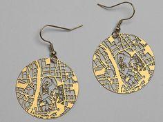 Streets Earrings by Fluid Forms