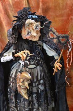 Guest Artist Scott Smith – Rucus Studio – Art Dolls Only Halloween Diorama, Halloween Doll, Holidays Halloween, Vintage Halloween, Halloween Decorations, Halloween Witches, Halloween Gourds, Steampunk Halloween, Halloween Goodies
