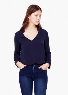 Satin blouse | MANGO