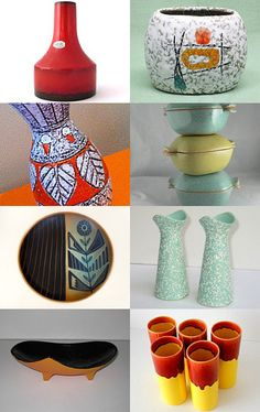 Great collection of mid century pottery..all found on #Etsy