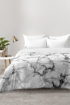 Chelsea Victoria Marble No 3 Comforter | DENY Designs Home Accessories