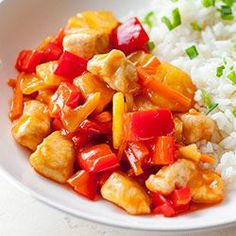 Sweet and Sour Chicken Sweet N Sour Chicken, Sweet Potato, Lunch Recipes, Healthy Recipes, Fruit Salad, Food And Drink, Favorite Recipes, Vegetables, Cooking