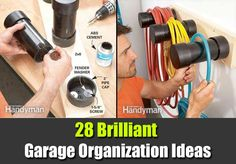 28 Brilliant Garage Organization Ideas - SHTF Preparedness by proteamundi