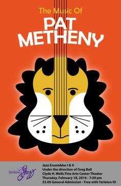 Tarleton Jazz Ensembles poster - The Music of Pat Metheny
