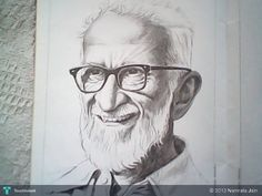 Dr.Salim Ali.. - Sketching by Namrata Jain in New ones at touchtalent