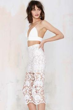Stone Cold Fox Elliot Lace Skirt