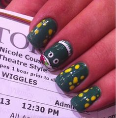 'Dorothy the Dinosaur' -The Wiggles nail art Check out my gallery- www.instagram.com/victory_nails