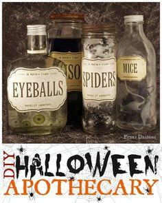 DIY Halloween Apothecary Jars from fynesdesigns.com #MSHalloween