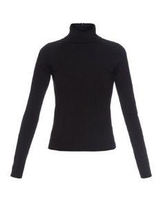 Staple-embellished wool top | Balenciaga | MATCHESFASHION.COM US