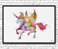 Instant Digital Download Unicorn Watercolor print by ArtsPrint