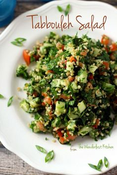 Tabbouleh Salad - never waste money on the boxed stuff again! Just as quick and easy, but tastes SO much better. | from The Wanderlust Kitchen
