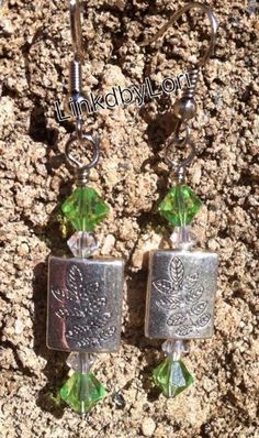 Leaves of Green Earrings!! | Linkdbylori - Jewelry on ArtFire