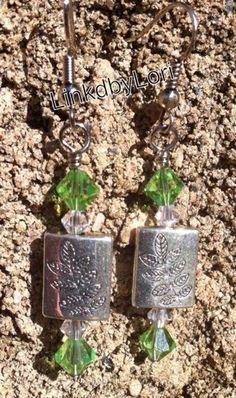 Leaves of Green Earrings!! | Linkdbylori - Jewelry on ArtFire