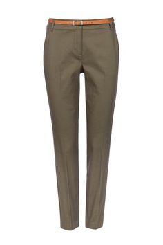 Khaki Belted Cigarette Trouser #wallisescapes