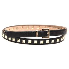 VALENTINO 'Rock stud' leather belt (38570 RSD) ❤ liked on Polyvore featuring accessories, belts, leather rock belts, rock belts, valentino belt, leather belts and studded belt