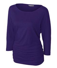 College Purple Infield Top - Women & Plus by Cutter & Buck #zulily #zulilyfinds