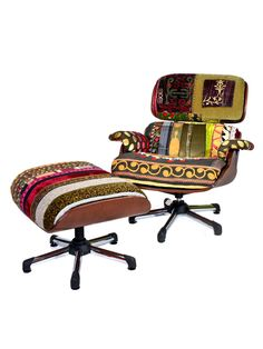 Eames a la Bokja Chair & Ottoman by nuLOOM at Gilt