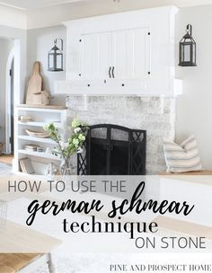 How to use the german schmear technique on stone