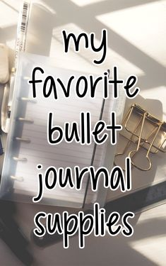 In this post I'll show you my favorite basic bullet journal supplies. I like using a ring bound bullet journal instead of a notebook, because then I can use my printable planner pages which end . Bullet Journal Inspo, Bullet Journal Markers, Bullet Journal Printables, Bullet Journal Notebook, Bullet Journal How To Start A, Journal Template, Bullet Journal Layout, Bullet Journals, Cool Erasers