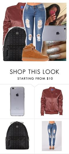 """— i was good on my own that's the way it was . "" by ayooshaanti ❤ liked on Polyvore featuring adidas, MCM and NIKE"