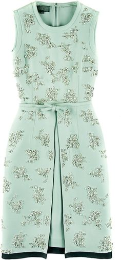 GIAMBATTISTA VALLI Silk And Cotton Embroidered Dress
