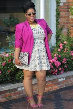 Style Chic 360: Texture | Skater Dress + Thrifted Blazer
