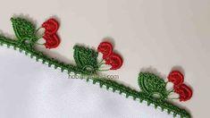 kirazli fistik oyasi yapimi Crochet Edging Patterns Free, Baby Knitting Patterns, Stitch Patterns, Hand Embroidery Videos, Manta Crochet, Crochet Blouse, Lace Flowers, Irish Crochet, Textures Patterns
