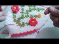 Puf çiçekli uzun lif yapım videosu 1.bölüm - YouTube